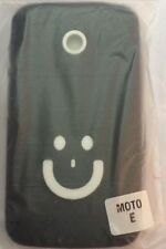 Branded Smiley Designer TPU Silicone Back Case For Motorola Moto E XT1022 BLACK