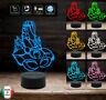 Lampada led 7 colori SCORPIONE Segno zodiacale Idea regalo originale compleanno