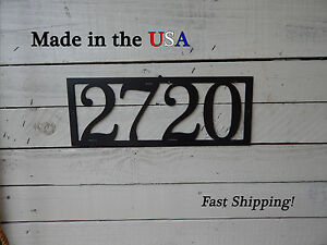 House Number Plaque- Home Decor-Address Sign-Number Sign-Country-Folk Art-HN1073