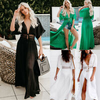 Women Lace Bikini Beachwear Cover up Long Boho Maxi Beach Dress Swimwear Summer