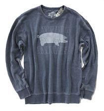 Lucky Brand - Mens M - NWT - Faded Navy Pink Floyd Animal Tour Crew Sweatshirt