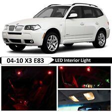 13 pcs Red Error Free Interior LED Light Package Kit Fit 2004-2010 BMW X3 E83