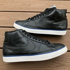 NIKE BLAZER HIGH 315877-006 Mens SIZE 9.5 Black Leather Athletic Shoes