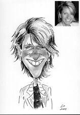 Personalised Caricature of one person in A5 b/w Christmas Wonderful gifts