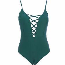 Women Push-up Bra Bikini Swimsuit One-Piece Monokini Swimwear Beachwear M