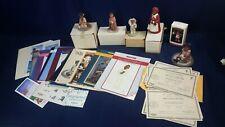 Lot 6 All God's Children Figurines Martha Holcombe Collector Catalogs Box Coa Ln
