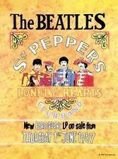 Die Beatles SGT Peperoni Retro Poster Kleine Metall Blechschild Bild Plaque