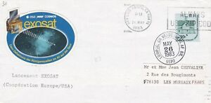 R74 enveloppe thème ESPACE Lancement EXOSAT coopération Europe/USA 1983