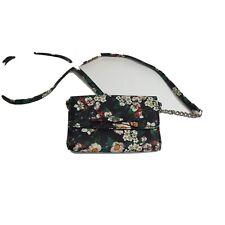 NINE WEST Blue Floral Cross Body Bag Convertible Clutch