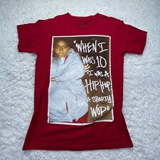 Nas Shirt Adult Small Red Hip Hop Quote Rap Music Short Sleeve D4