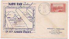* 1934 U S S PILLSBURY SHANGHAI CHINA DUPLEX POSTMARK NAVY DAY USA UNITED STATES