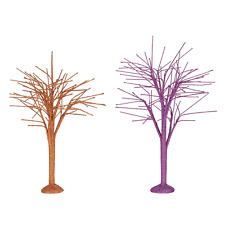 Department 56 October Sparkle Bare Branch Trees Halloween 6004337 New 2019 Tree