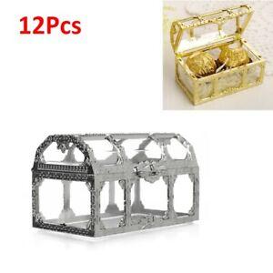 12pcs Organizer Plastic Jewelry Storage Treasure Chest Candy Box Set