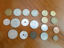 Vintage Pre Euro Coin Lot, 19 coin lot, Spain,Italy,Germany, Greece, Norway