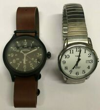 Lot of 2: Timex WR 30M Indiglo & Expedition WR 50M Indiglo Wrist Watch