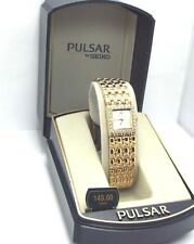 Pulsar by Seiko Ladies, Gold-tone Bracelet  Dress Watch, PPG D04