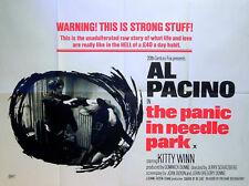 PANIC IN NEEDLE PARK 1971 Al Pacino, Kitty Winn Jerry Schatzberg Heroin UK QUAD