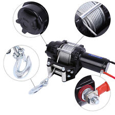 12V 4000LBS Electric Winch Steel Cable Boat Winch 4WD ATV Remote Forged Hook UK