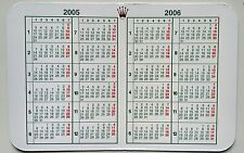 Vintage ROLEX  Calendar 2005/2006 OEM 67180 68628 16518 16523 16600 16520 16528