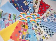 craft patchwork fabric material remnants squares boy