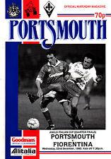 1993/94 Portsmouth V FIORENTINA, COPPA ANGLO-ITALIANO, PERFETTE CONDIZIONI