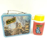 1980 Star Wars Metal Lunch Box w/ Thermos The Empire Strikes Back King-Seeley