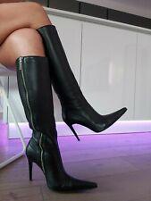 High Heel Stiletto Leder Stiefel Lorenzi Style Boots Mega Spitze Gr 38
