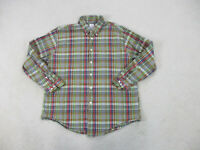 Brooks Brothers Button Up Shirt Adult Extra Large Brown Green Plaid Casual Men