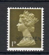 1d MACHIN UNMOUNTED MINT OVERPRINTED 'SPECIMEN' Cat £250
