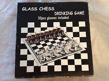 Glass chess shot drinking game