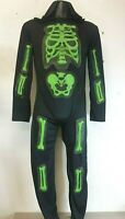 Boys Skeleton Costume Jumpsuit Halloween Fancy Dress Outfit 12-13 YRS A113-20