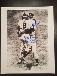 Don Larsen Yogi Berra Signed Perfect Game Photo