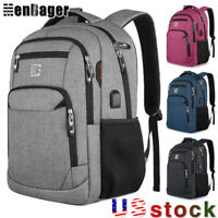 Men Women 15.6inch Laptop Backpack Business Travel School Bag USB Charging Port