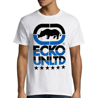 NWT ECKO UNLTD. LOGO AUTHENTIC MEN'S WHITE CREW NECK SHORT SLEEVE T-SHIRT SIZE L