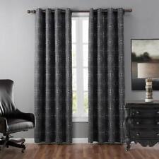 "Room Darkening Blackout Grommet Window Curtains - 2 Panel Set -52 x 63"" Gray Dot"