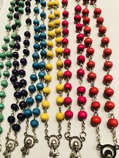 Wholesale 12 PCS Boxed Scented Wood Rosary Bead Necklaces Ship from New York