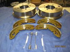 MG MG MIDGET PAIR DRUMS, REAR BRAKE SHOE SET &  PULL OFF  SPRINGS 1962-80 ***K1C