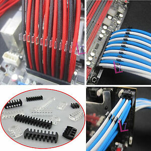 10Pcs Cable Comb / Dresser Set for 3.3 mm Cables PSU PCIe PC Sleeved Extensions