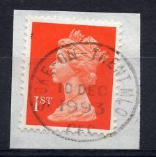GB = QE2 Postmark - `STOKE-ON-TRENT MLO / CFC` 1993 Single Ring cancel.