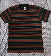 Zoo York NWT Mens Size Medium M Lava Gray/ Red Stripe Tee Shirt