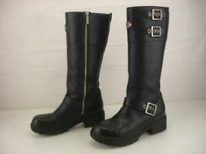 Women's 8 M Harley-Davidson Bremerton Black Leather Tall Motorcycle Riding Boots
