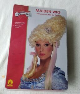 Marie Antoinette Maiden Wig Renaissance Victorian Lady Blonde 19th Century New