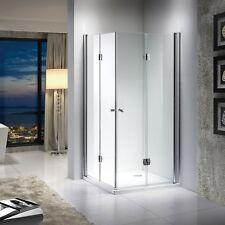 Duschkabine 180° Duschwand Falttür Duschabtrennung Eckeinstieg NANO Glas ESG 8mm
