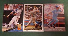 3) George Brett 1993 Topps Gold Kansas City Royals Leaf 1991 Fleer Ultra