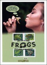 Sc. 5395-8 Frogs Dragon Card Kiss Design B&W Postmark