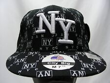 NEW YORK - CITY BIG - MEDIUM SIZE 7 1/4 FITTED BALL CAP HAT!
