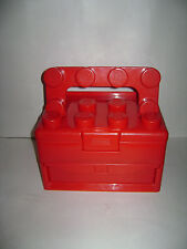 LEGO 2011 RED CASE STORAGE BOX with HANDLE RETIRED