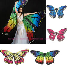 2020 Butterfly Isis Wings Belly Dance Costume Egyptian Dance Wear With 2 Sticks