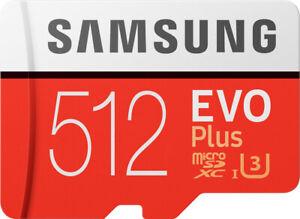 Samsung EVO Plus 512GB microSDXC micro SD Speicherkarte EVO+ UHS Class 10 U3