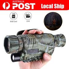 5x40 Night Vision Goggles Monocular IR Surveillance Camera Hunting Scope 8gb AU